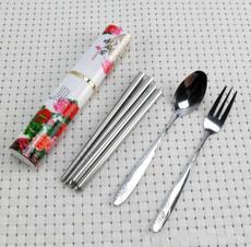 不锈钢便携餐具